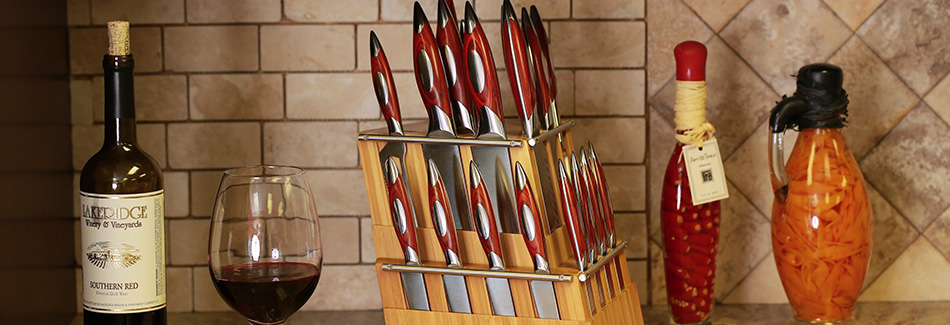Rhineland 20pc Knife Set with Bamboo Block